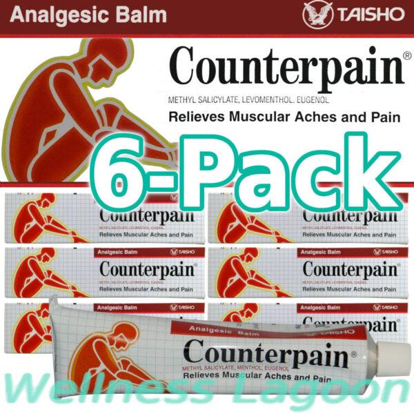 6x Taisho Counterpain Balm Red - 120g