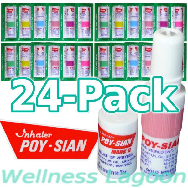24x Poy Sian Inhaler Mark II - Nasal Inhaler