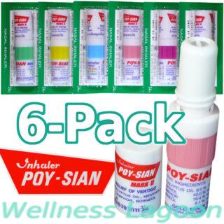 6x Poy Sian Inhaler Mark II - Nasal Inhaler