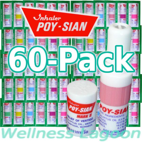 60x Poy Sian Inhaler Mark II - Nasal Inhaler