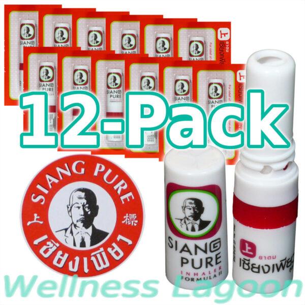 12x Siang Pure Inhaler - Formula II - Nasal Inhaler & Rub