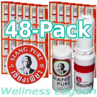 48x Siang Pure Inhaler - Formula II - Nasal Inhaler & Rub