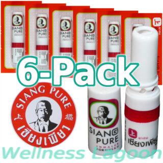 6x Siang Pure Inhaler - Formula II - Nasal Inhaler & Rub