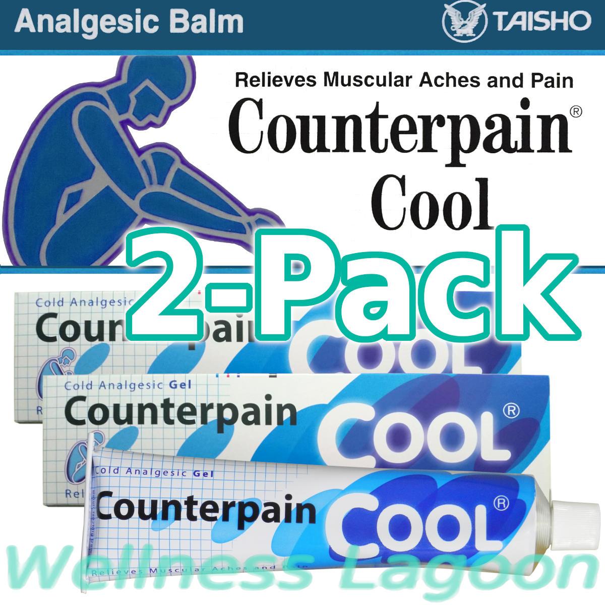 2x Taisho Counterpain Cool Gel (Blue) - 120g