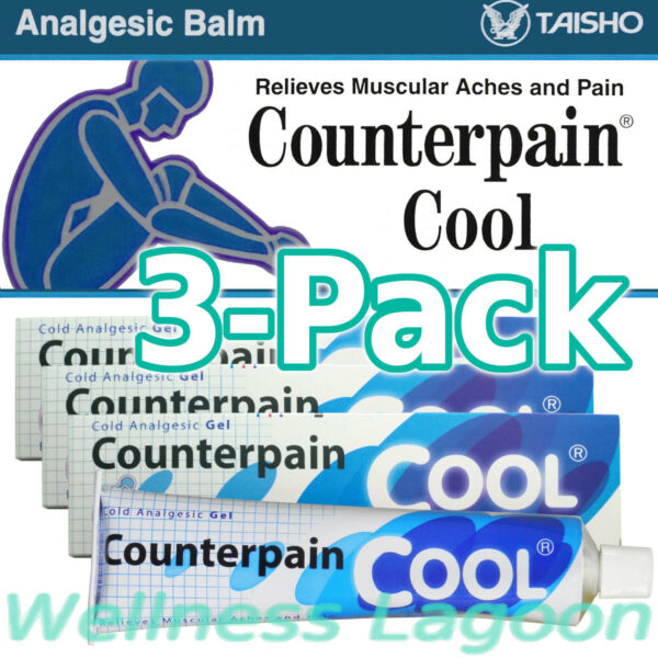 3x Taisho Counterpain Cool Gel (Blue) - 120g - Cold Analgesic Balm