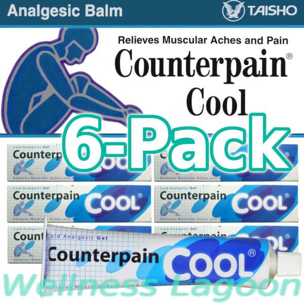 6x Taisho Counterpain Cool Gel (Blue) 120g