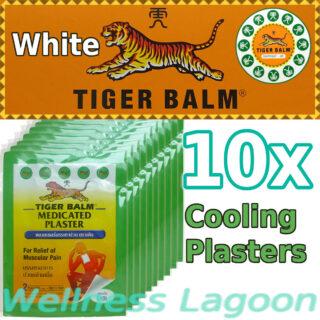 10x Tiger Balm Medicated Plaster Cool (10cm x 14cm)