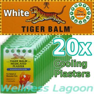 20x Tiger Balm Medicated Plaster Cool (10cm x 14cm)