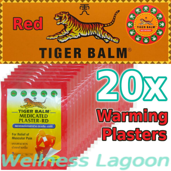 20x Tiger Balm Medicated Plaster Warm (10cm x 14cm)