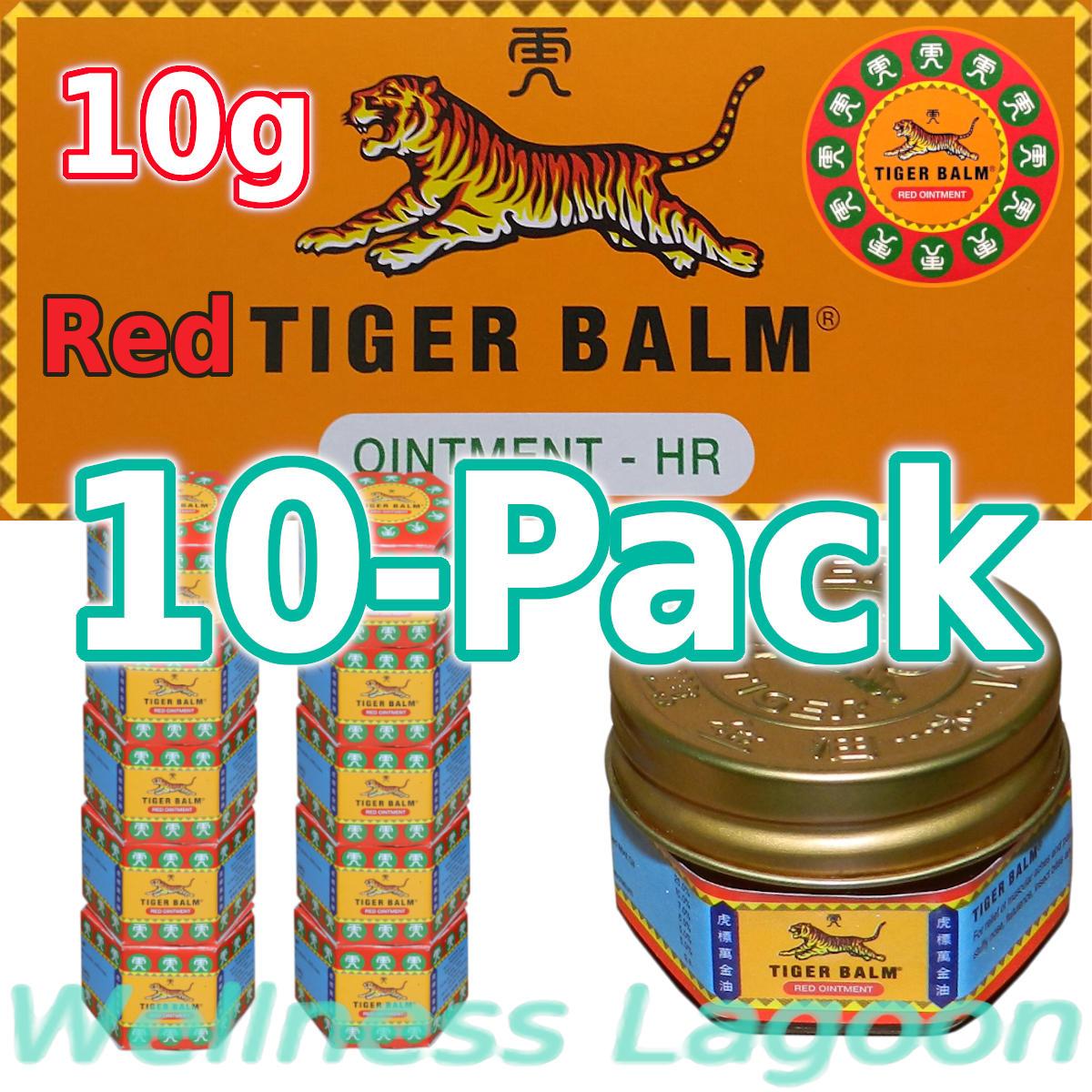 10x Tiger Balm Red 10g