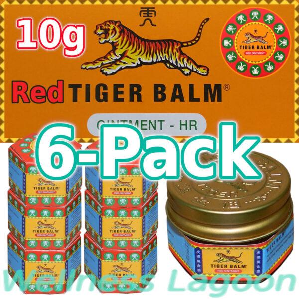 6x Tiger Balm Red 10g