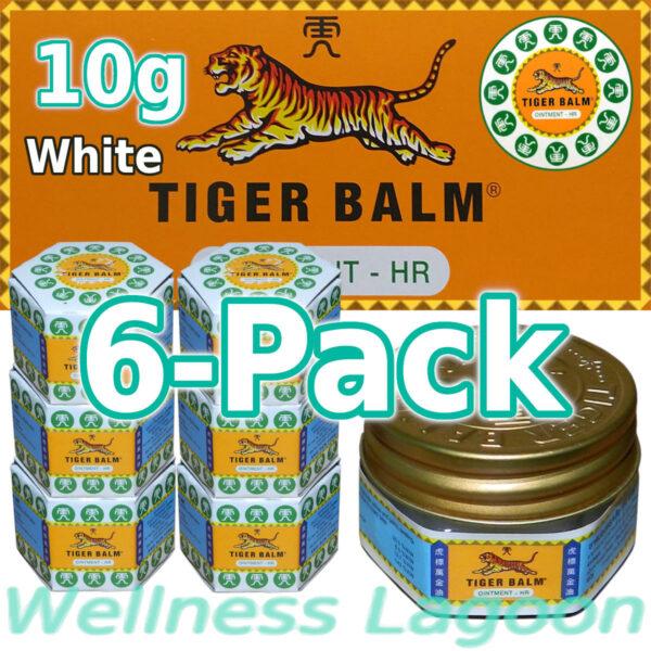 6x Tiger Balm White 10g