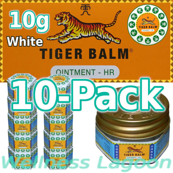 10x Tiger Balm White 10g
