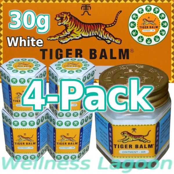4x Tiger Balm White 30g