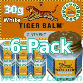 6x Tiger Balm White 30g